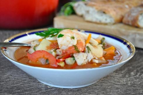 fish soup close