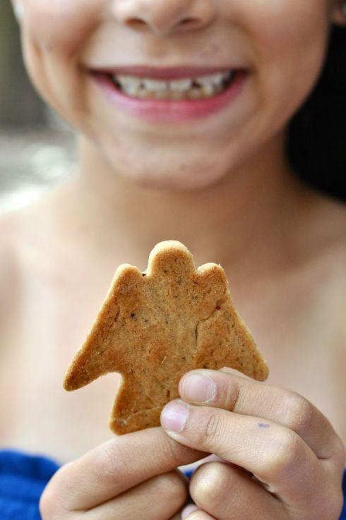 eating christmas cookies