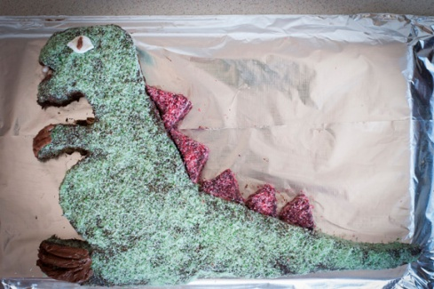 dinosaur birthday cake