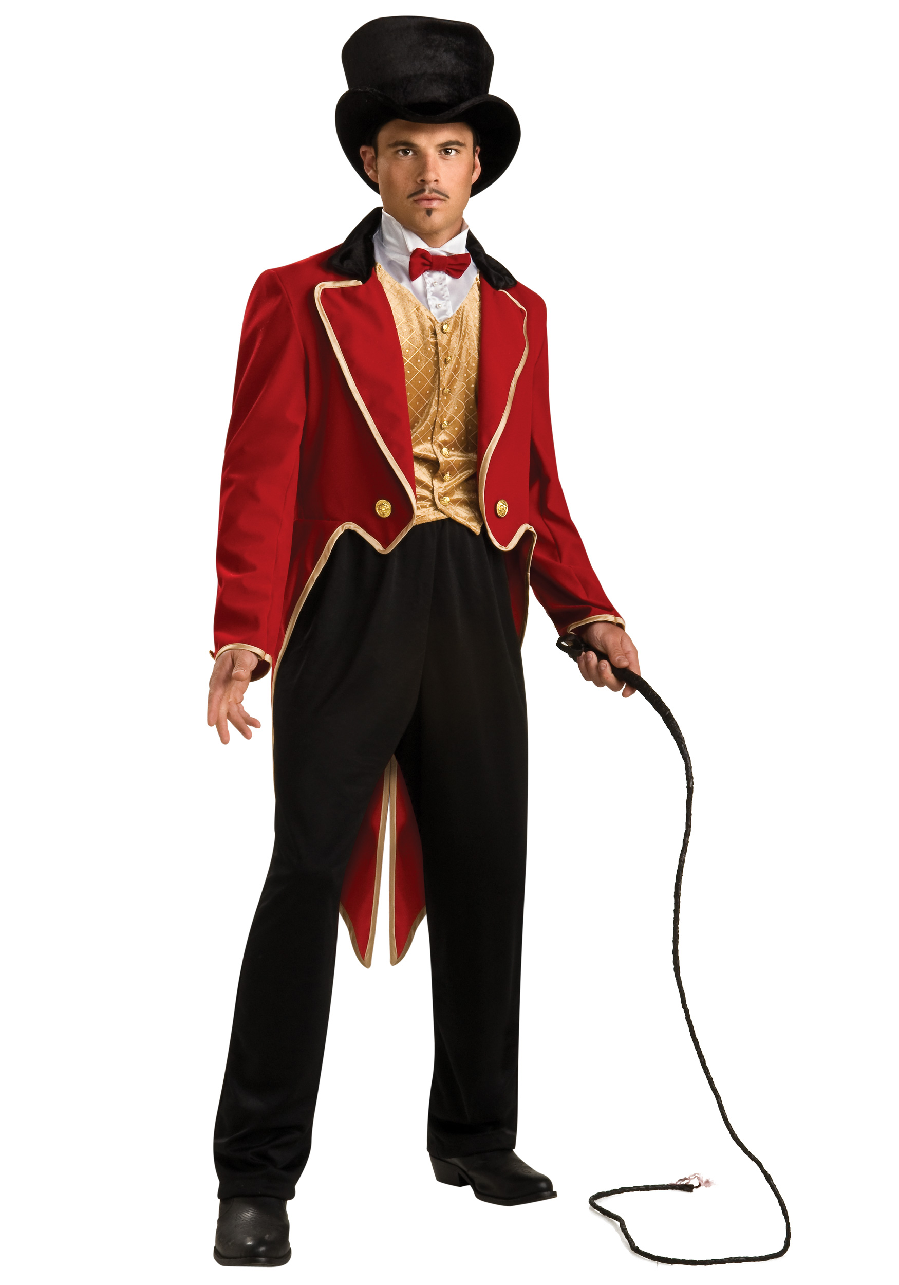 out of 5 stars - Mens Red Ringmaster Circus Costume Halloween~Size Large~with Extras!