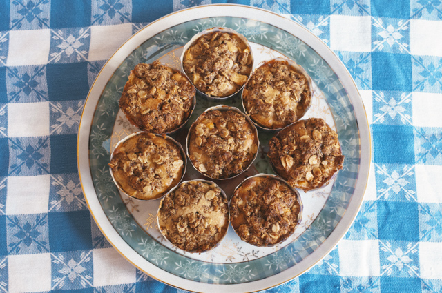 Apple Carrot and Ginger crumble muffins
