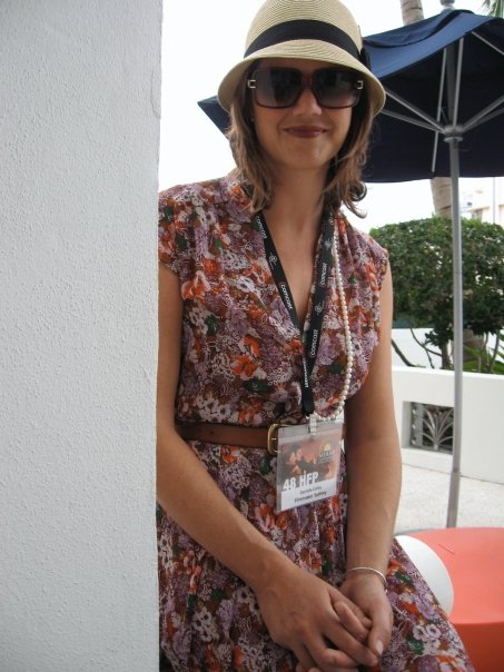 Me at the Miami Film Festival, in my new hat.