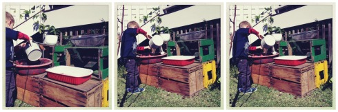 mud kitchen collage