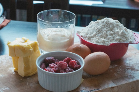 raspberry and passionfruit scone ingredients