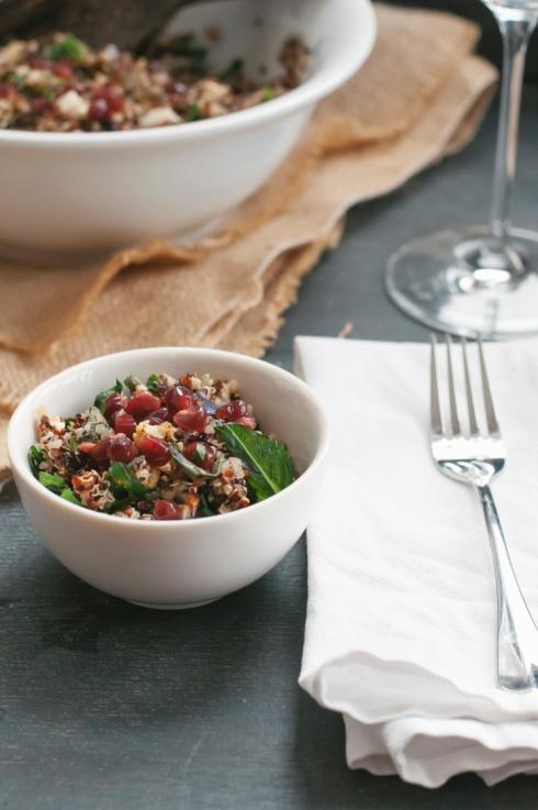cruciferous quinoa salad
