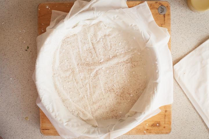 chicken bastilla filo pastry