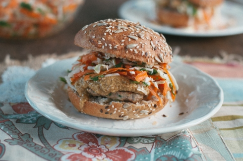 satay chicken burger