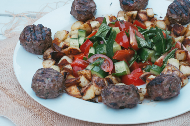 fetta stuffed greek rissoles
